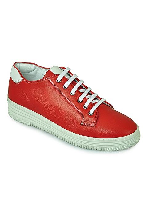 Matraş Hakiki Deri Casual Ayakkabı Kırmızı